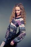 Fashion girl in ethnic dress Stock Photos