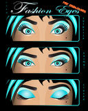 Fashion girl eye catcher eyes Royalty Free Stock Images
