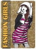 Fashion girl. Stock Photos