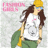 Fashion girl. Royalty Free Stock Photo