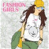 Fashion girl. Royalty Free Stock Photo