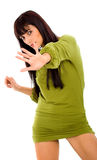 Fashion girl with hand Stock Photography