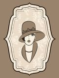 Fashion girl in hat. Royalty Free Stock Photos
