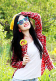 Fashion girl hipster Stock Images