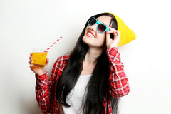Fashion girl hipster Stock Image