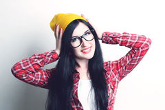 Fashion girl hipster stock photography