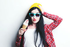 Fashion girl hipster Royalty Free Stock Image