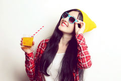 Fashion girl hipster Royalty Free Stock Photography