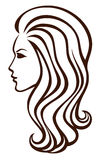 Fashion girl icon Royalty Free Stock Images