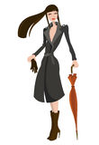 Fashion girl illustration stock illustration