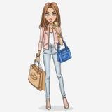 Fashion girl illustration Royalty Free Stock Photo