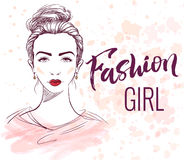 Fashion girl illustration Royalty Free Stock Photography