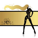 Fashion Girl In Dance Royalty Free Stock Images