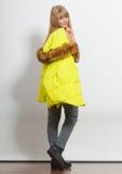 Fashion girl in jacket. Royalty Free Stock Photo