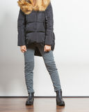 Fashion girl in jacket. Stock Photos