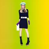 fashion girl Jesień styl Zdjęcie Stock