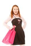 Fashion girl make shopping Stock Photo