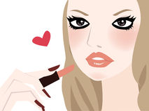 Fashion girl Make-up Illustration Royalty Free Stock Photo