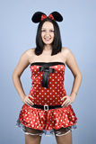 Fashion girl in mouse costume Stock Photo