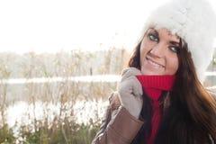 Fashion girl near the lake Stock Photos