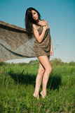 Fashion girl outdoors Stock Photography