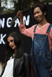 Fashion, Girl, Outerwear, Socialite Stock Photography