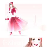 Fashion girl in Paris Stock Photo