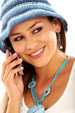 Fashion girl on the phone Royalty Free Stock Images