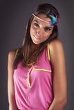 Fashion girl portrait Stock Photos