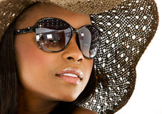 Fashion girl portrait - sunglasses Stock Images