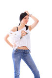 Fashion girl posing Royalty Free Stock Photography