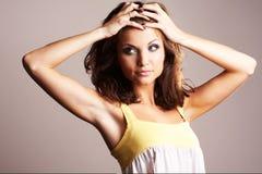 Fashion girl posing Stock Photos