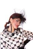 Fashion girl posing on white background Royalty Free Stock Photo