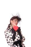 Fashion girl posing on white background Stock Image