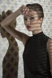 Fashion girl with retro Royalty Free Stock Photos