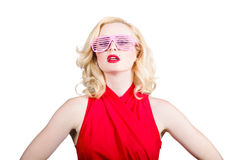 Fashion girl in retro sunglasses. Summer fashion Stock Photography