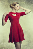 Fashion girl with romantic style royalty free stock photo