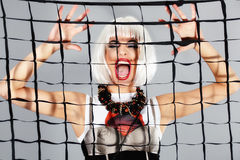 Fashion girl screaming Royalty Free Stock Photography
