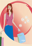 Fashion Girl on shopping. Beautiful fashion girl with bags on shopping Stock Photography