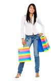 Fashion girl with shopping Stock Images