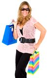 Fashion girl - shopping bags Stock Image