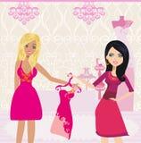 Fashion girl Shopping illustration. Fashion girl Shopping ,  Vector Illustration Royalty Free Stock Images