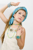 Fashion girl showing jewelry Stock Photo