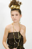 Fashion girl showing jewels Royalty Free Stock Image