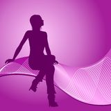 Fashion girl silhouette Stock Photo
