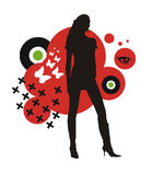 Fashion girl silhouette Royalty Free Stock Photography