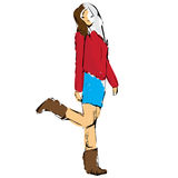 Fashion girl sketch Stock Photo