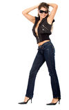 Fashion girl standing Royalty Free Stock Photography