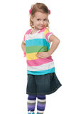 Fashion girl in striped shirt Stock Photography