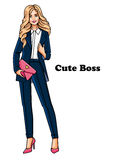 Fashion girl in suit Royalty Free Stock Photography